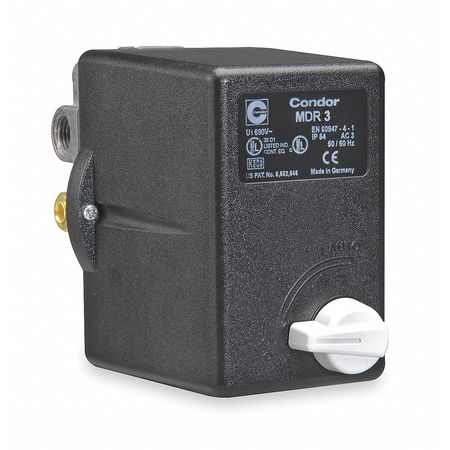 Pressure Switch 60/80 psi Standard DPST by USA Condor Electrical Pressure Switches