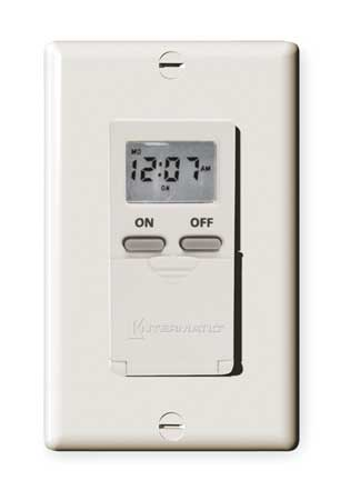 Digital Timer 7 Day SPST 120 V Almond by USA Intermatic Electrical Plug In & Wall Switch Timers
