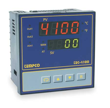 Temp Controller Prog 90 250V Relay2A Model TEC56025 by USA Tempco Industrial Automation Temperature Controllers