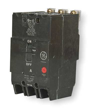 3P Standard Bolt On Circuit Breaker 50A 277/480VAC by USA GE Circuit Breakers