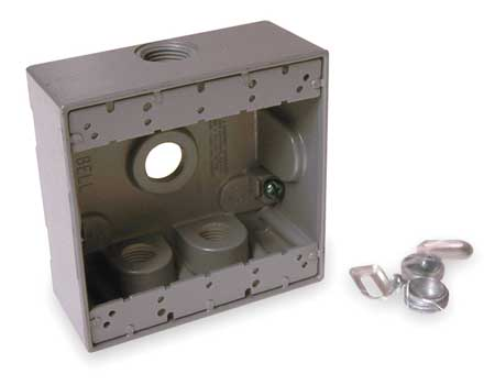 Weatherproof Box 2Gang 4Inlet by USA Bell Electrical Weatherproof Boxes