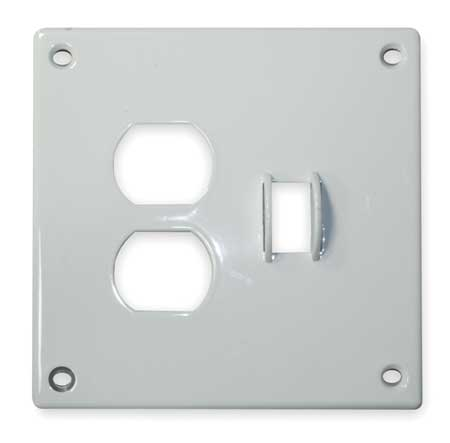 Toggle Switch/Duplex Plate 2 Gang White Model SWP18 by USA Hubbell Kellems Electrical Wall Plates