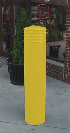Value Brand Bollard Cover 10 In Dia. 52 In H Yellow