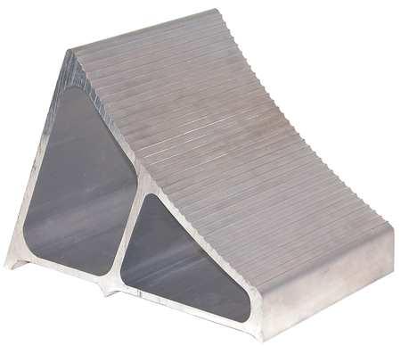 Value Brand Wheel Chock 8 In H Aluminum Silver