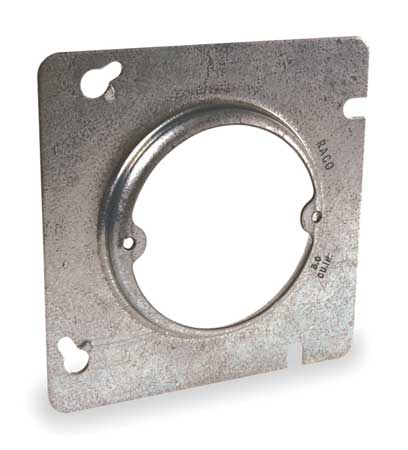 Square Steel Cover by USA Raco Electrical Box Accessories
