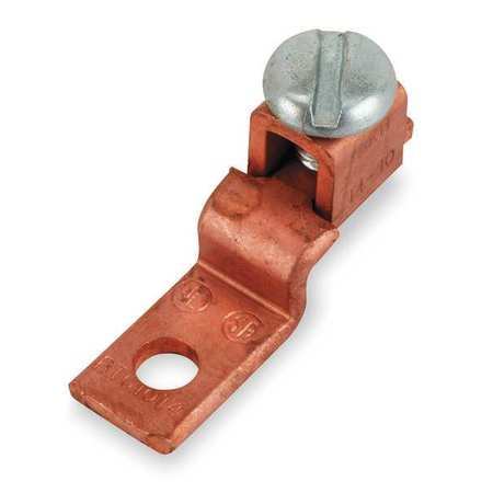 Mechanical Conn Offset Tang 1/0 to 2 AWG by USA Blackburn Electrical Wire Mechanical Connectors