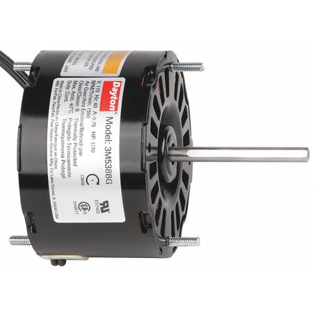 Dayton hvac motor 1 70 hp 1550 rpm 115v 3 3 3m538 for Dayton direct drive fan motor