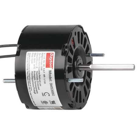 HVAC Motor 1/100 HP 1550 rpm 115V 3.3 Model 3M536 by USA Dayton HVAC 3.3 Inch Diameter Motors