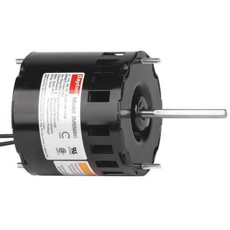 HVAC Motor 1/100 HP 1550 rpm 115V 3.3 Model 3M558 by USA Dayton HVAC 3.3 Inch Diameter Motors