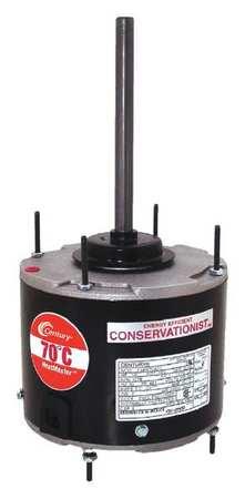 Condenser Fan Motor 1/6to1/3HP 1075 rpm Model ORM5458F by USA Century Permanent Split Capacitor Condenser Fan Motors