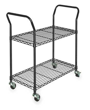 Value Brand Wire Cart 2 Shelf L41 x W18 x H39 In. Type 3TPC8