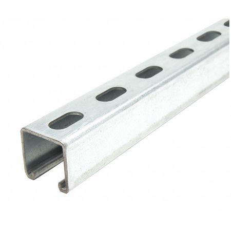 Strut Chan 1 ft. 6 in.L Pre Glvnzd Steel by USA Value Brand Electrical Strut Channels