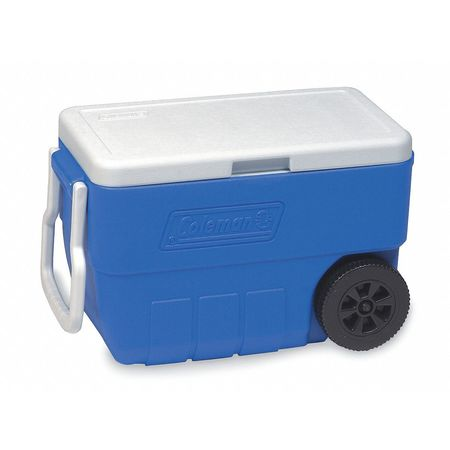 COLEMAN - Wheeled Chest Cooler, 50 qt., Blue