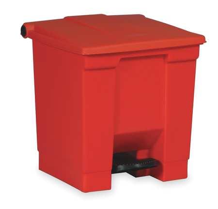 18 gal. Plastic Rectangular Step On Trash Can