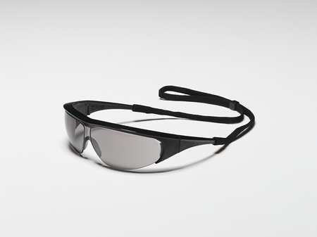 4YH39 Safety Glasses, Gray, Scratch-Resistant