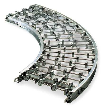 Ashland Skatewheel Conveyor 90 Curve 24in. W