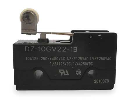 Swch 10A DPDT Shrt Hinge Roller Lever by USA Omron Electrical Enclosed Snap Action Switches