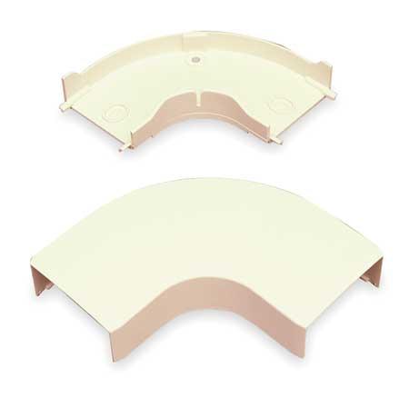 Flat Elbow 90 deg. Ivory PVC Elbows by USA Legrand Electrical Raceways