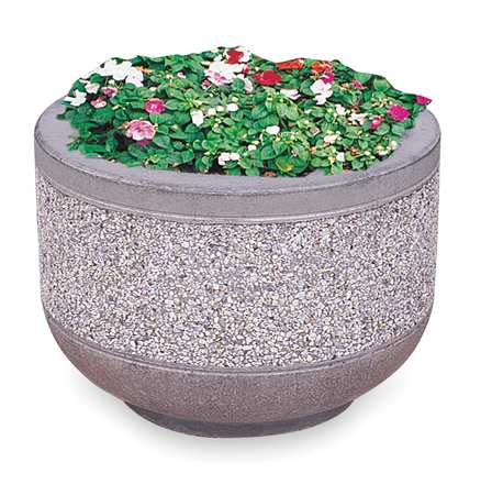 Wausau Security Planter Round 24 In. L 17 In. H