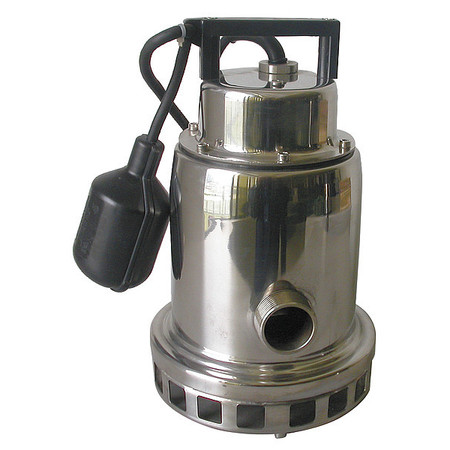 "DAYTON - Sump Pump, 1/3 HP, 1-1/4"" NPT, 15 ft."
