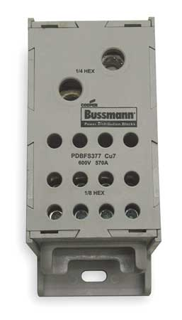 Pwr Dist Block 570A 1P 4AWG 300 MCM 600V by USA Bussmann Electrical Wire Power Distribution Blocks