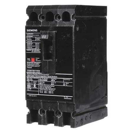 3P High Interrupt Capacity Circuit Breaker 80A 480VAC by USA Siemens Circuit Breakers