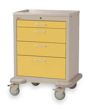 Metro Medical Cart Steel/Polymer Taupe/Yellow Type MBX1210TL-YE