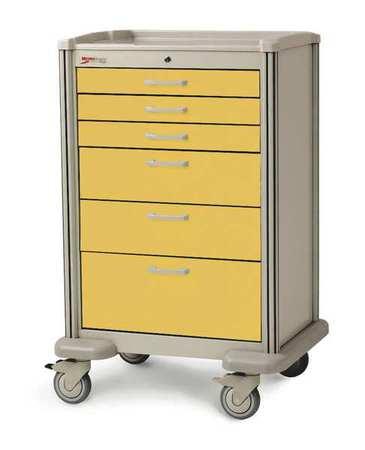 Metro Medical Cart Steel/Polymer Taupe/Yellow Type MBX4101TL-YE