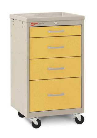 Metro Compact Cart Steel/Polymer Taupe/Yellow