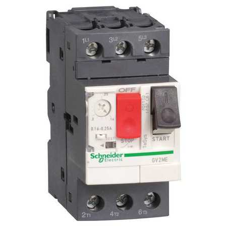 Manual Motor Starter Button 0.25 0.4A 1P by USA Schneider Electrical Motor Manual Switches & Starters