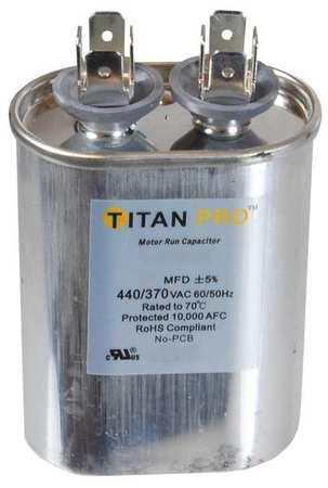 Motor Run Capacitor 17.5 MFD 4 3/8 In. H by USA Titan o Motor Run Capacitors