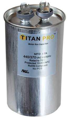Motor Run Capacitor 80 MFD 4 13/16 In. H by USA Titan o Motor Run Capacitors