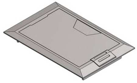 Floor Box Cover 8 3/8 in. Aluminum by USA Steel City Electrical Floor Boxes & Covers
