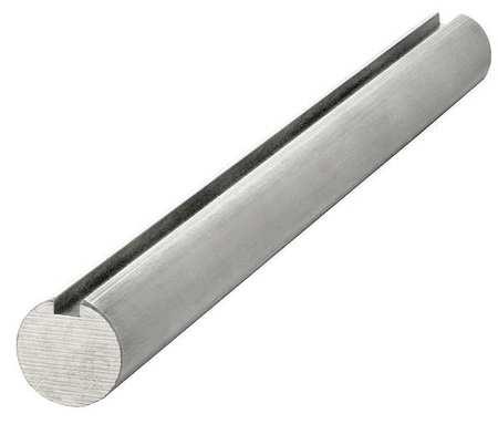 Keyed Shaft Dia. 1/2 In 12 In L Aluminum by USA Keyshaft Motor Keyed Shafts