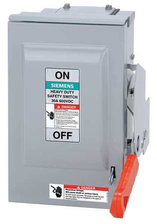 60 Amp 600VAC/DC Single Throw Solar Disconnect Switch 3P by USA Siemens Electrical Safety & Disconnect Switches