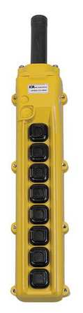 Pendant Station 8 Push Button NO Yellow by USA KH Electrical Push Button Control Stations