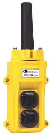 Pendant Station 2 Push Button NO Yellow Model CPH02 D00 000A by USA KH Electrical Push Button Control Stations
