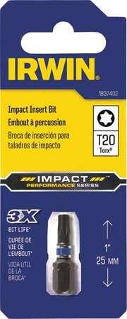 """Irwin Insert Bit 1/4"""" Torx T20 PK20"""