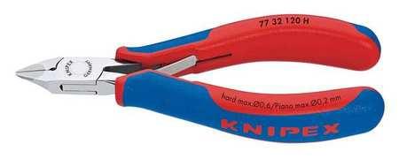 "Knipex 4 3/4"" Electronics Diagonal Cutter w/ Carbide Cutting Edges Ergonomic Grip Type 77 32 120 H"