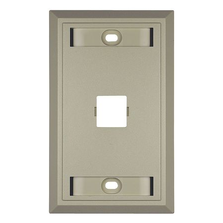 Wall Plate 1 Gang 1 Port Ivory by USA Commscope Voice & Data Outlets Boxes Faceplates