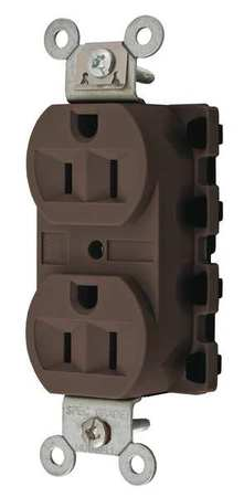 15A Duplex Modular Receptacle 125VAC 5 15R BN Model SNAP5262A by USA Snapconnect Electrical Straight Blade Receptacles