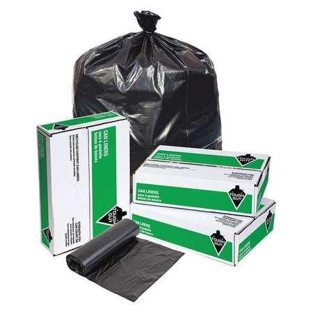 Trash Bag, 33 Gal., Black, Pk100