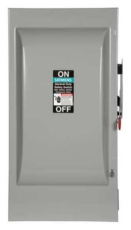 200 Amp 240VAC Single Throw Safety Switch 3P Model GF324N by USA Siemens Electrical Safety & Disconnect Switches