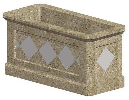 "Petersen 58"" x 27"" Security Planter Concrete"