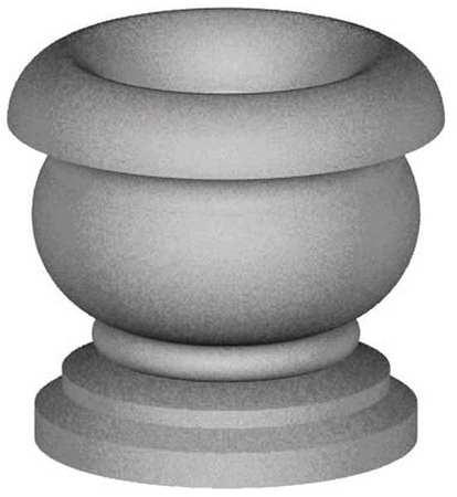 "Petersen 22"" Round Security Planter Concrete"