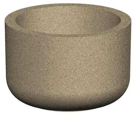 "Petersen 36"" Round Security Planter Concrete Type RP36X24"
