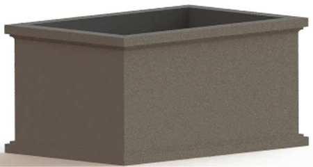 "Petersen 72"" x 48"" Security Planter Concrete"