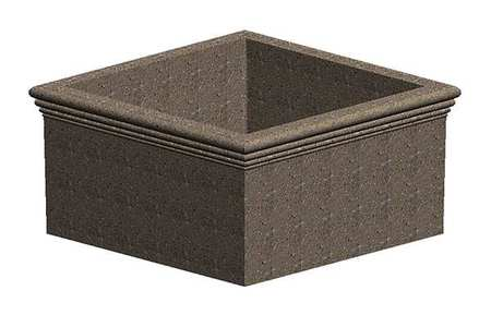 "Petersen 72"" x 72"" Security Planter Concrete"