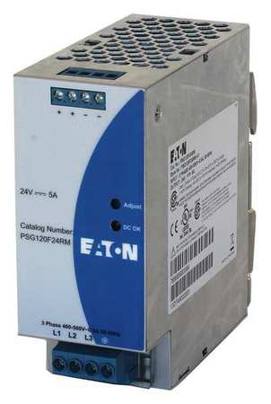 DC Power Supply 24VDC 5A 50/60 Hz Model PSG120F24RM by USA Eaton Electrical AC DC Power Supplies
