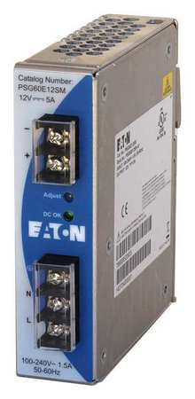 DC Power Supply 12VDC 5A 50/60 Hz by USA Eaton Electrical AC DC Power Supplies
